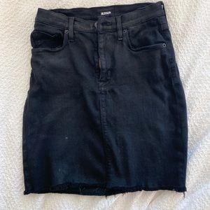 Hudson denim black pencil skirt